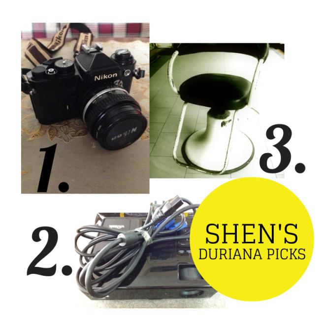 1. Nikon F Camera http://taps.io/Kxcw | 2. Vintage Barber Chair http://taps.io/KxZw | 3. Vivitek Projector http://taps.io/KxbQ.