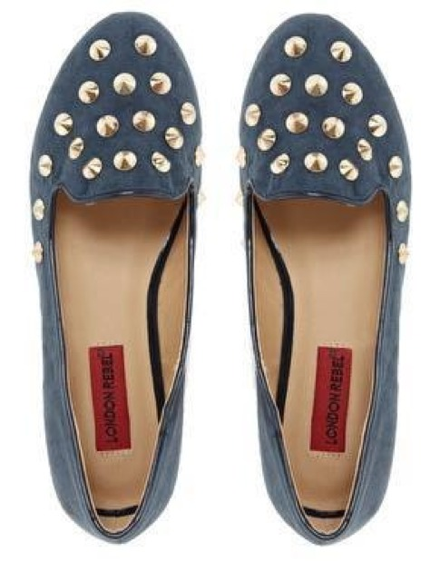 London Rebel Shoe, gold-tone stud embellishments, RM70 http://taps.io/LCNQ